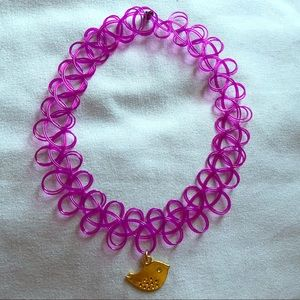 Jewelry - Purple gold bird tattoo choker